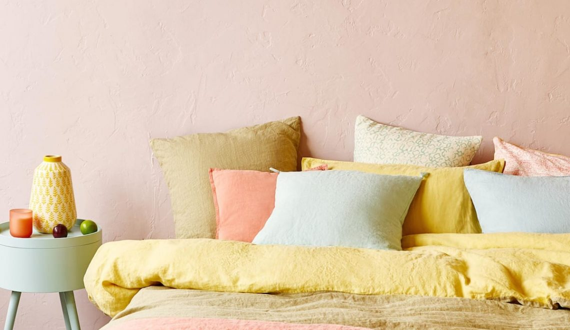 Spring trend: pastel colors linen bedding
